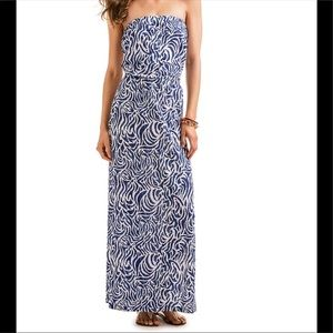 Vineyard Vines Strapless Maxi Dress